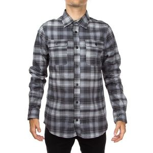 Nike SB Plaid Woven Long Sleeve Button Up Shirt